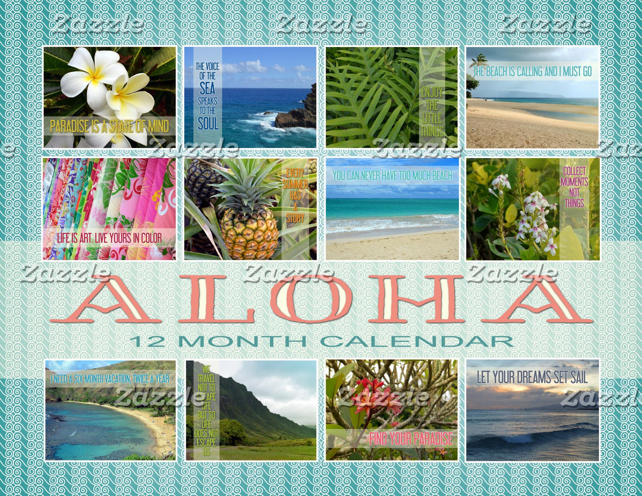 Aloha Hawaii Calendar
