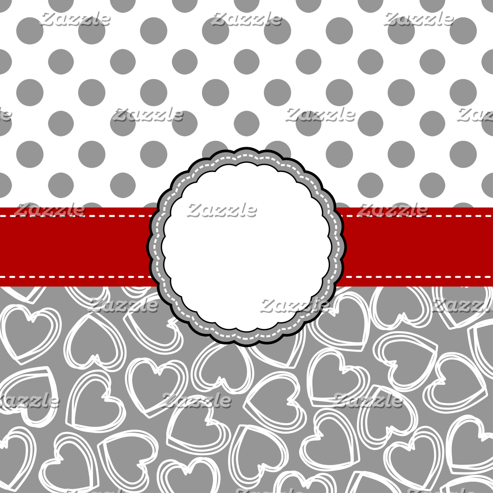 ALL THINGS GRAY AND WHITE DOTS AND HEARTS
