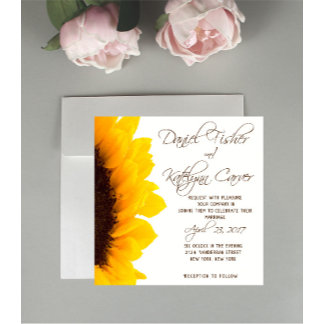 Sunflower Wedding Stationary