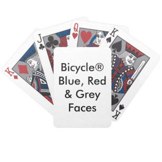 Bicycle® BLUE RED & GRAY