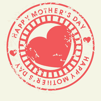 Grungy Rubber Stamp for Happy Mother's Day