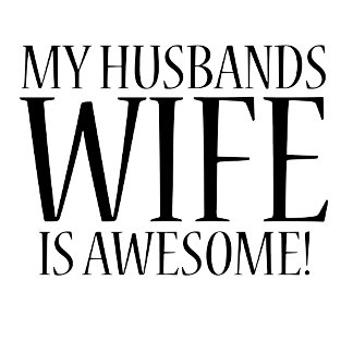 My husbands wife is awesome