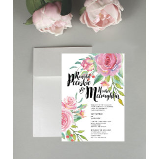 Floral Wedding Stationary