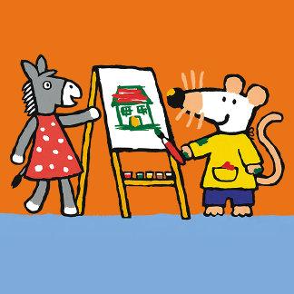 Maisy and Dotty Paint at Preschool