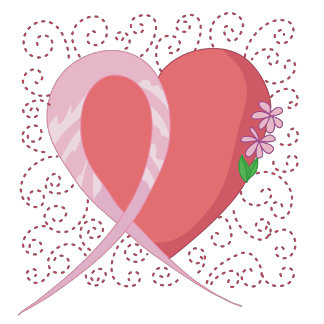 Breast Cancer Red Heart