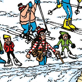 Ski Slopes Scene