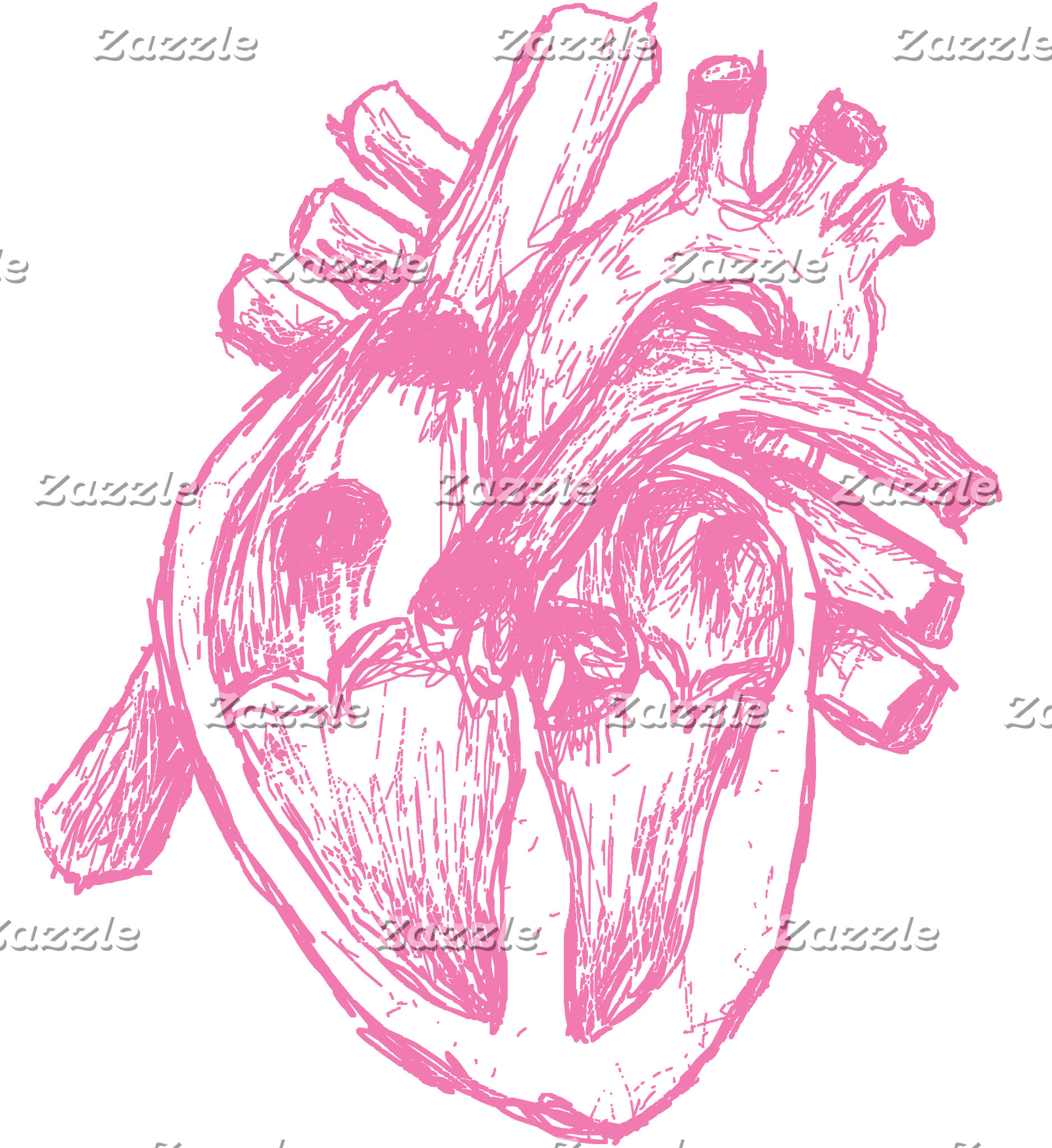 Pink Human Heart T-shirts and Gifts