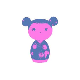 Pink Kokeshi Blue