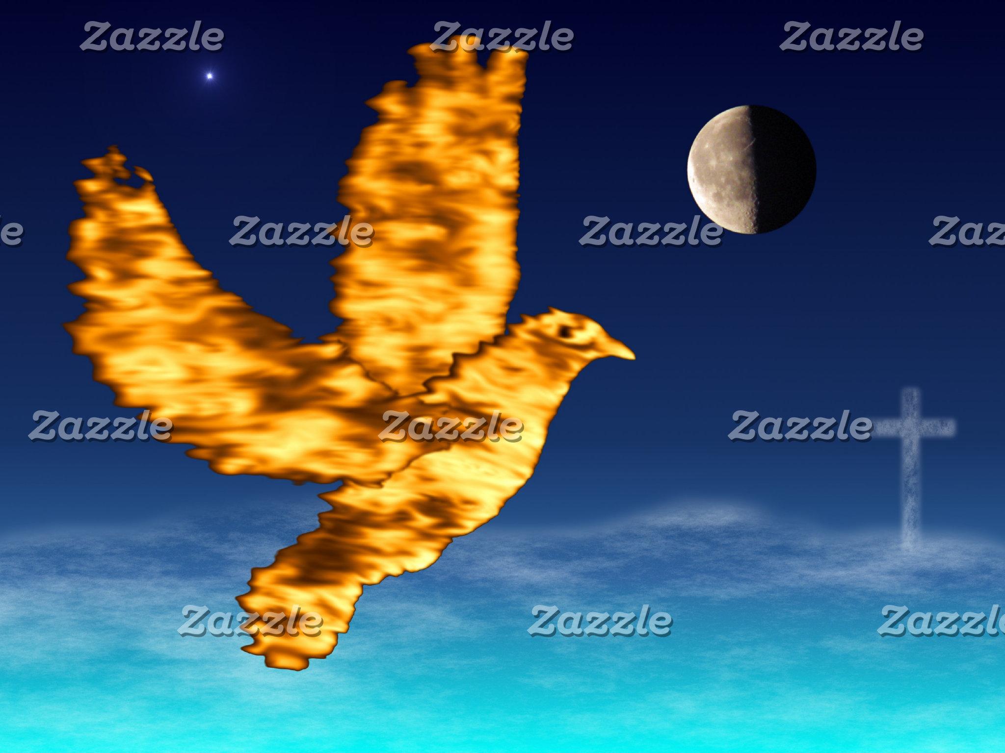 Holy Spirit Dove - Night Sky