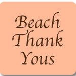 Beach Wedding Thank Yous