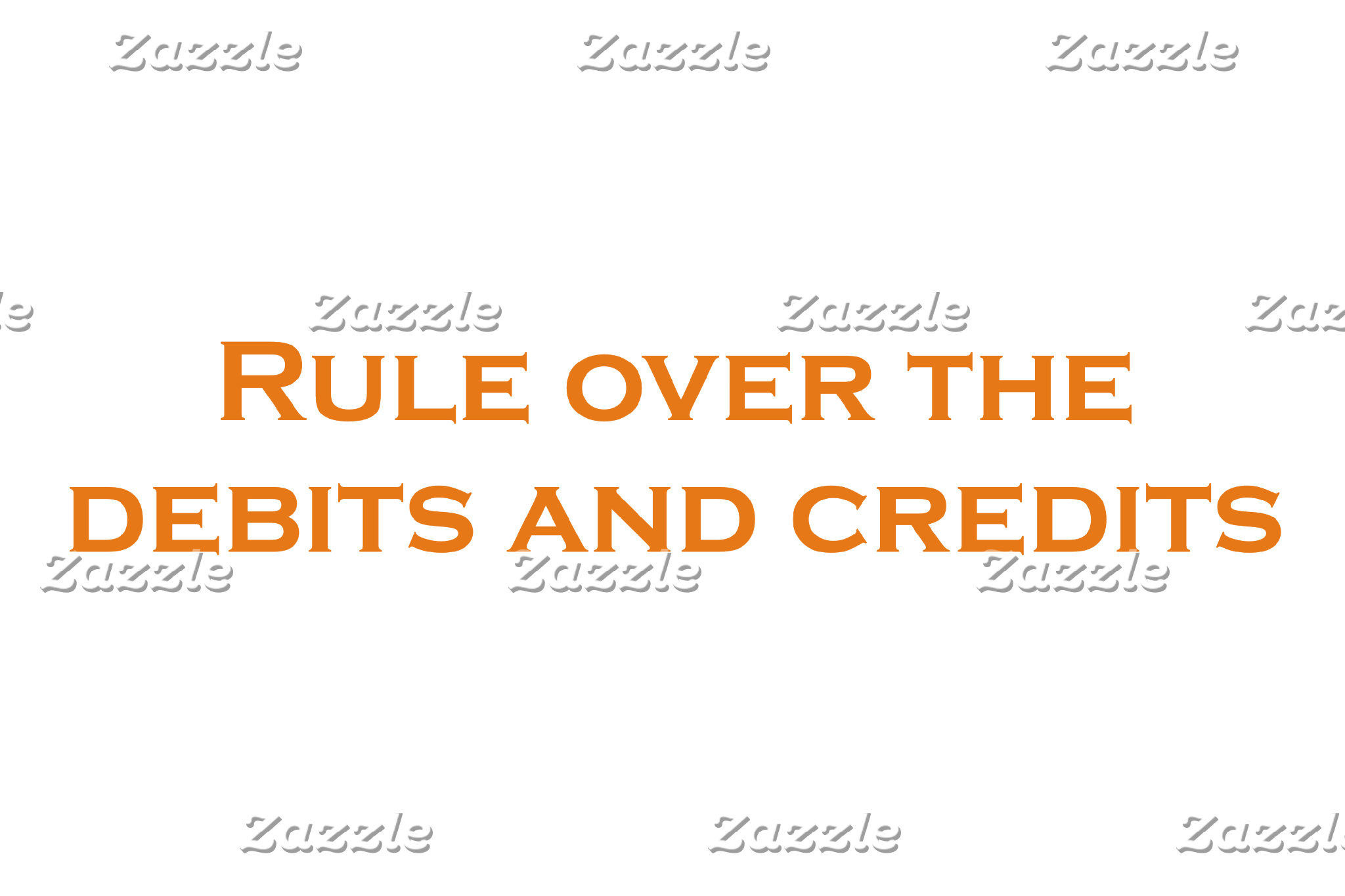 Rule over the Debits and Credits
