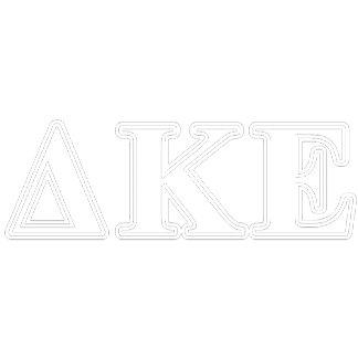 Delta Kappa Epsilon White and Blue Letters