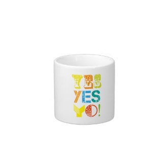 funky quotes espresso cups