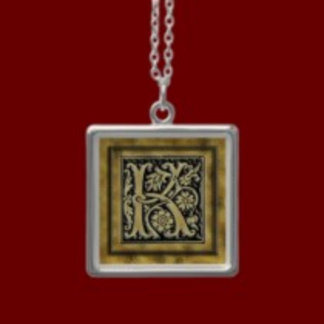 Fancy Initial Necklaces