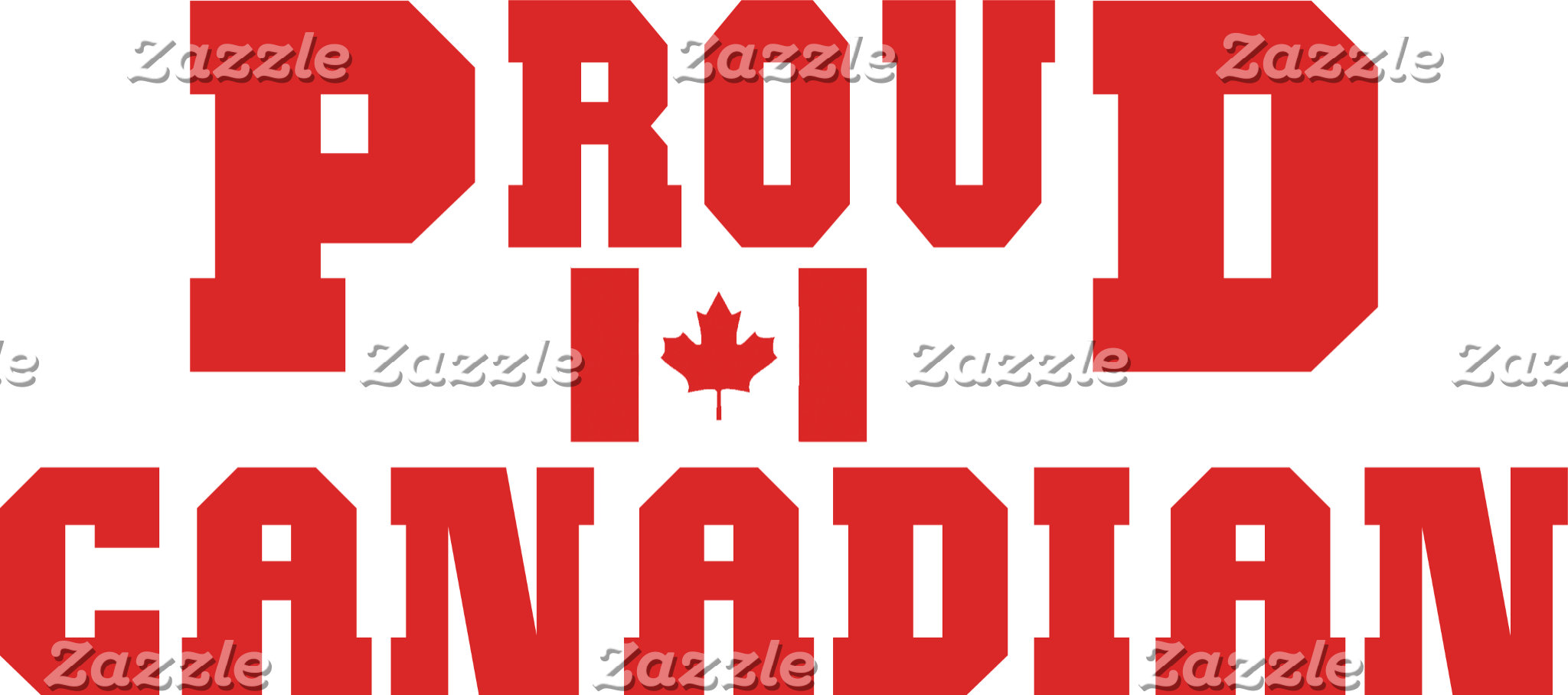 Proud Canadian T-Shirt Cards Gifts