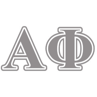 Alpha Phi Silver Letters
