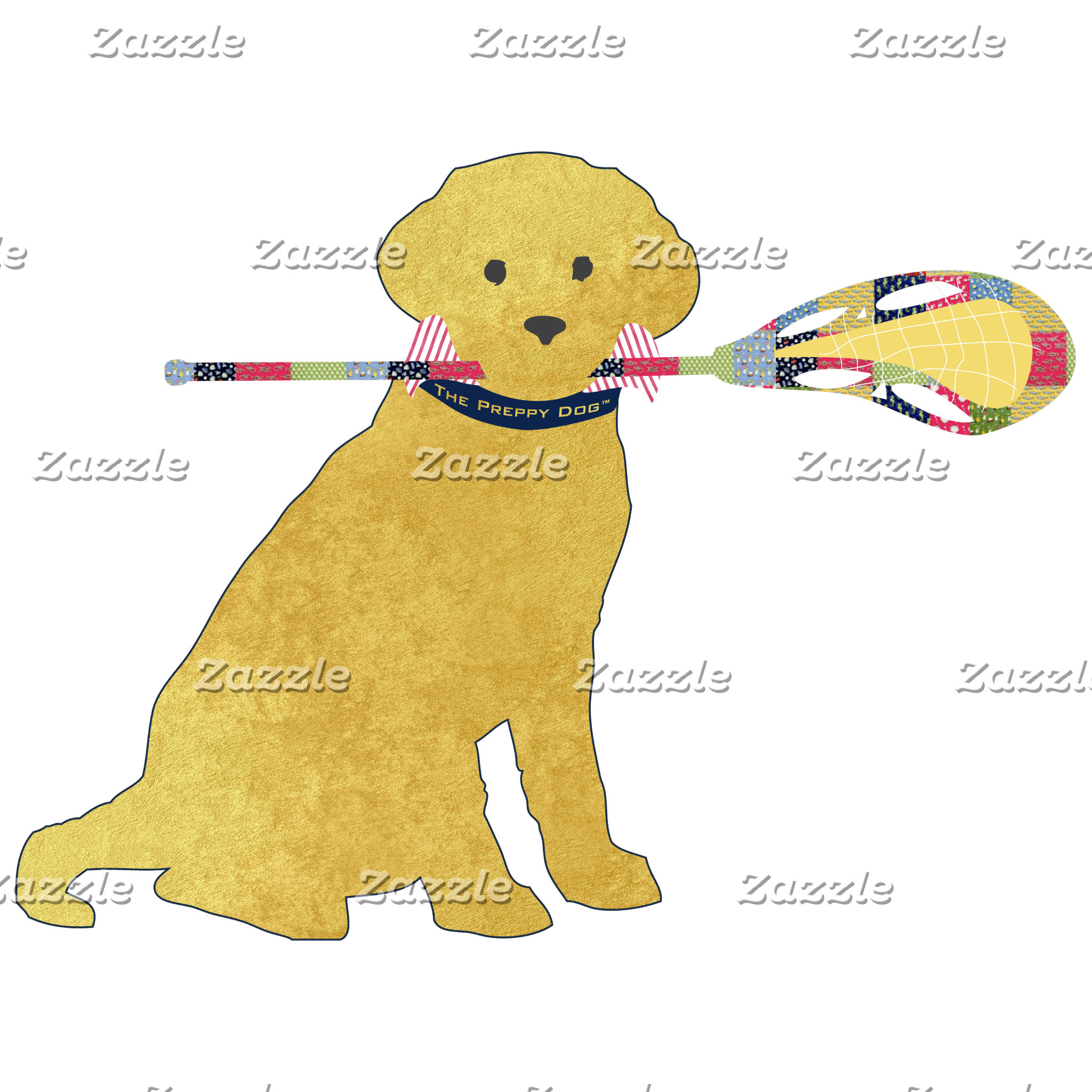 Preppy Golden Lacrosse Dog