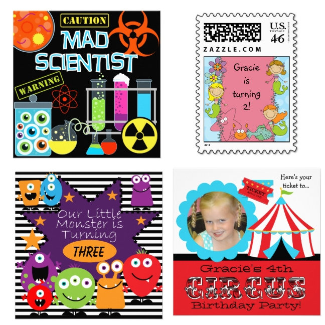 Invites, Postage, Stickers