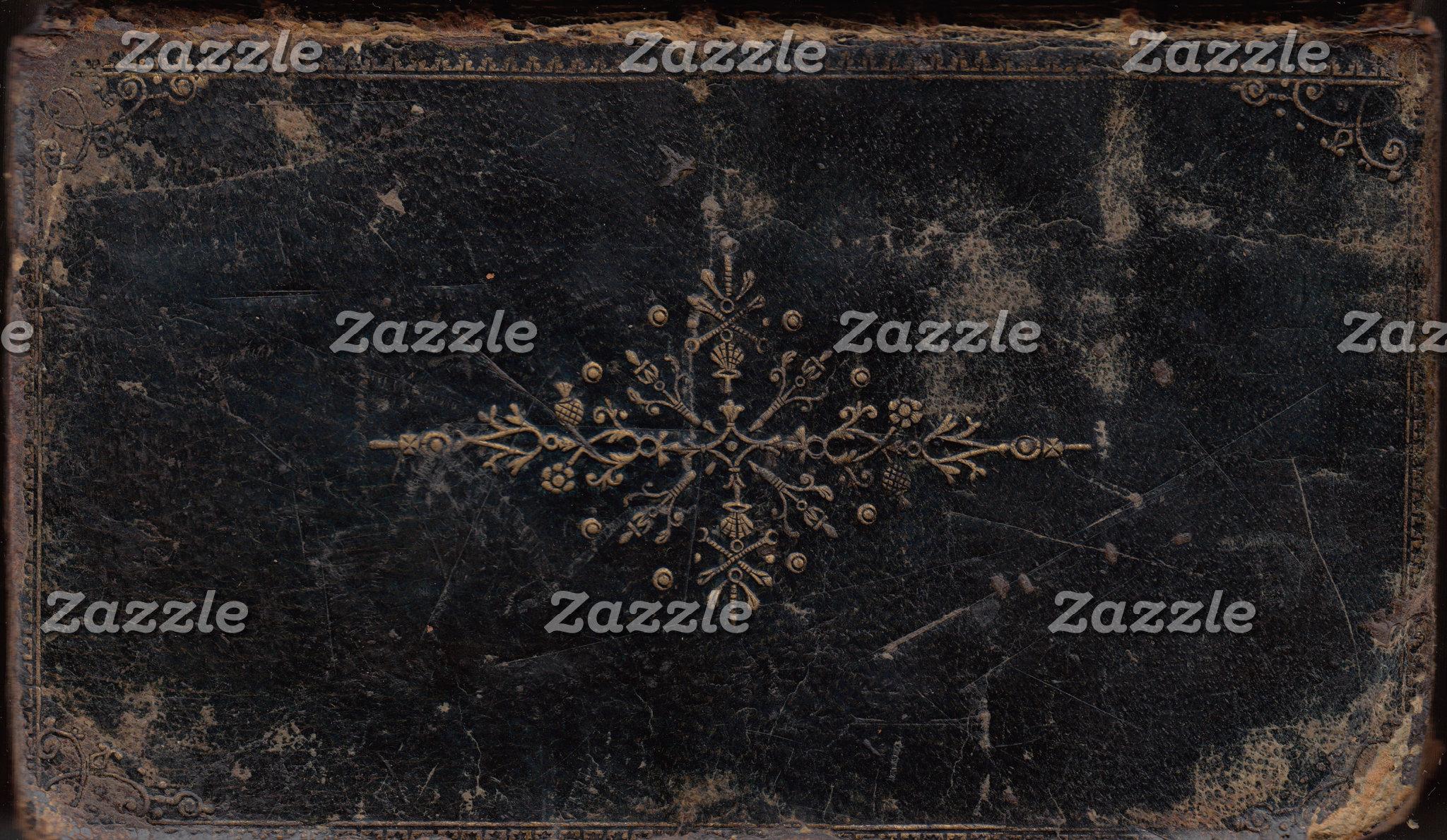 Fleur-de-lis Antique Book Cover