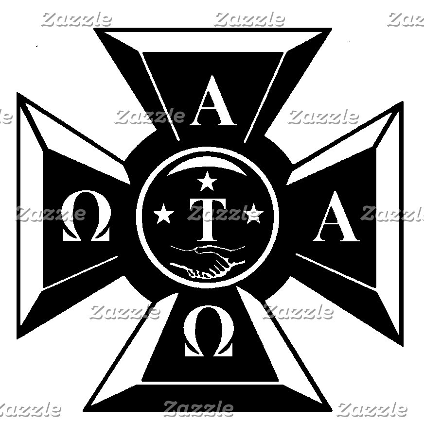 Alpha Tau Omega Badge Black & White