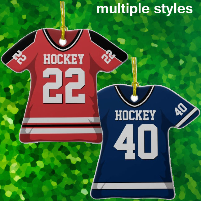Hockey Jersey Ornaments