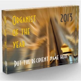 Organist of the Year acrylic blocks