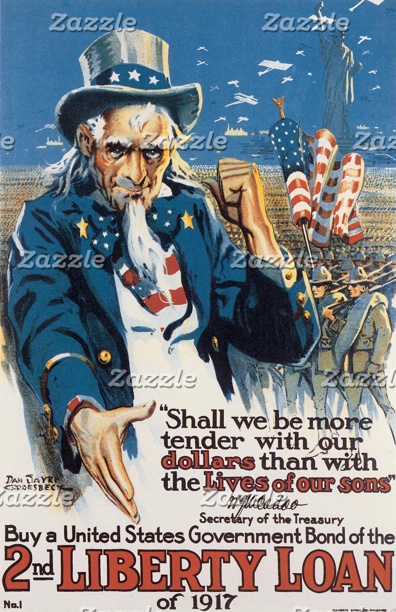 Vintage WWI Patriotism Art