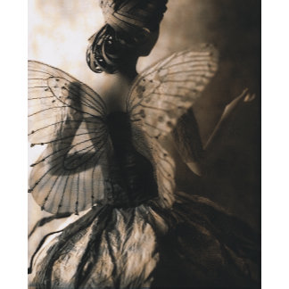 """""""Fairy Girl with Wings Photo Poster Print"""""""