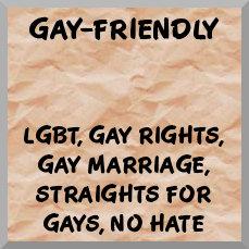 Gay-friendly, gay marriage