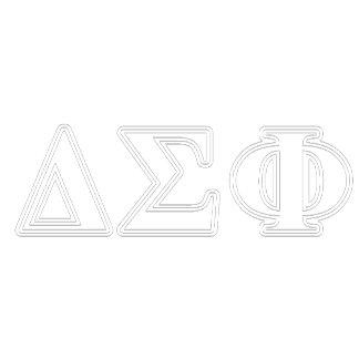Delta Sigma Phi White Letters