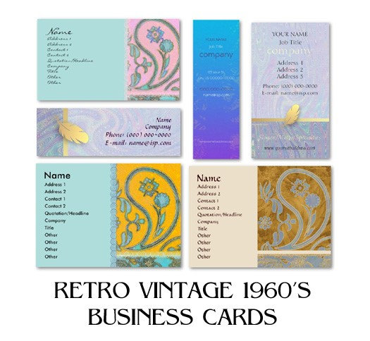 RETRO VINTAGE 1960's Business Cards
