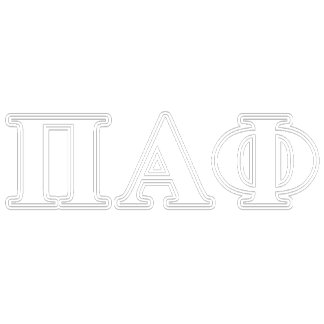 Pi Alpha Phi White and Blue Letters