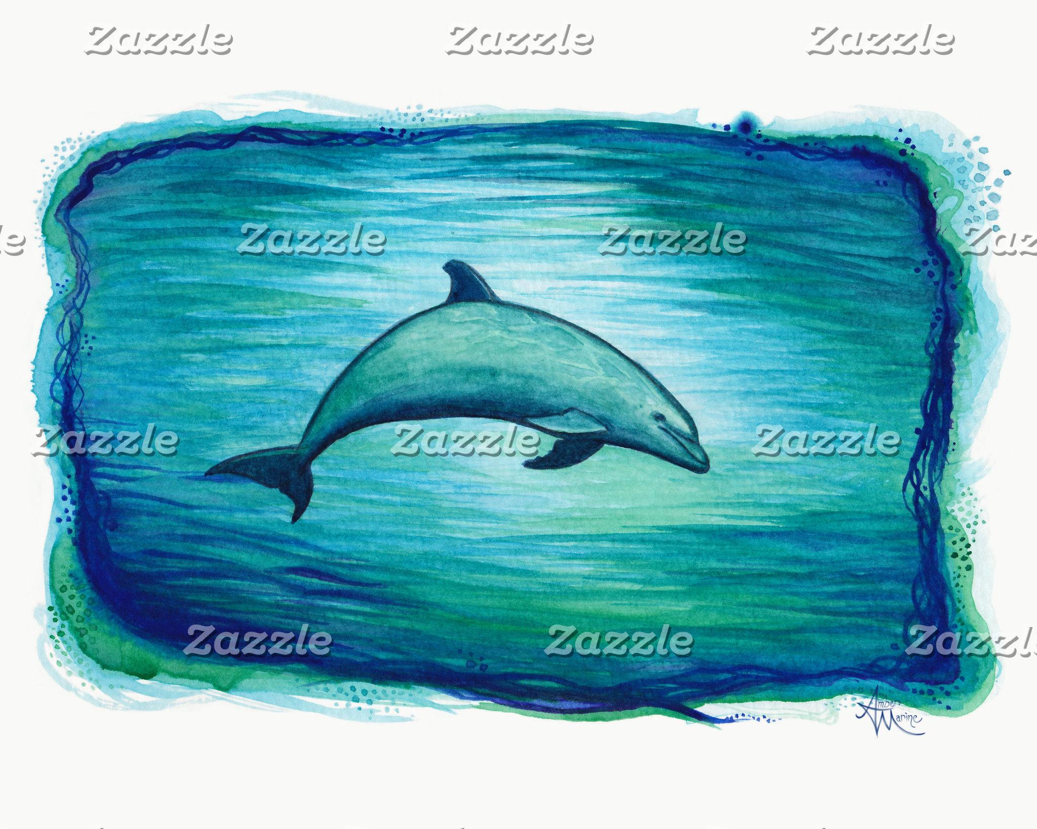 Art: Indigo Lagoon Dolphin