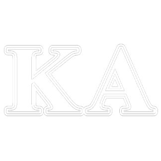 Kappa Alpha Order White and Yellow Letters