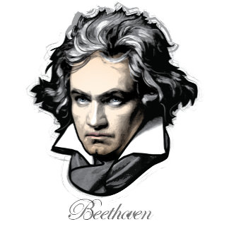 Ludwig van Beethoven (colored) w/font