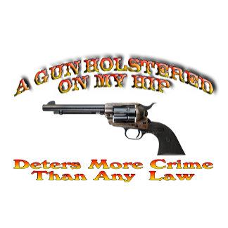 A Gun Holstered On My Hip