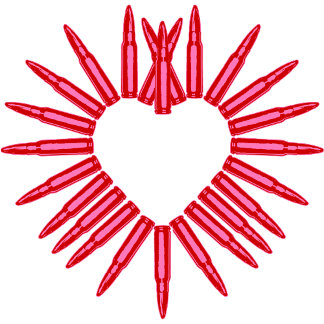 Pink Bullet Heart