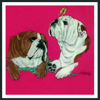 English Bulldog Duo Design