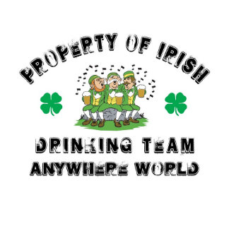 Personalized Irish Drinking Team T-Shirt