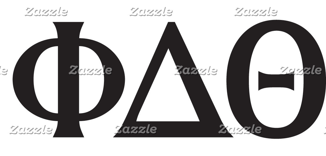 Greek Letters- Black