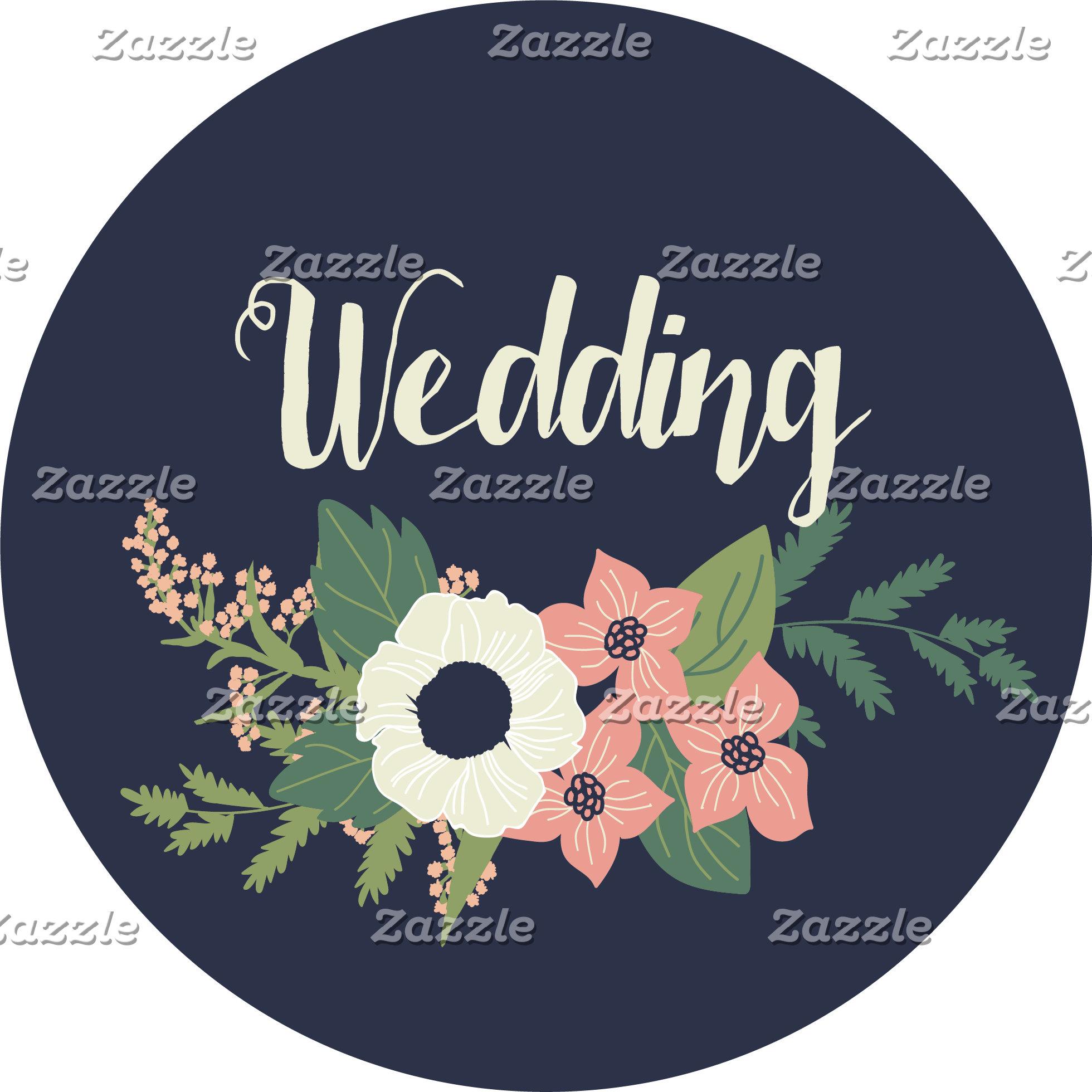 Modern Blush and Navy Floral Wedding