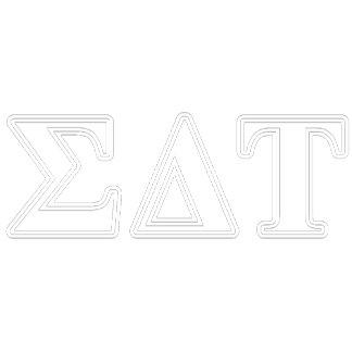 Sigma Delta Tau White and Blue Letters