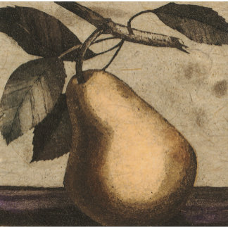 """""""Pear on Branch Poster Print"""""""