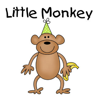Little Monkey with Party Hat