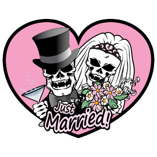 Just Married Skulls