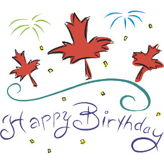 Happy Birthday Canada T Shirt Gift Cards