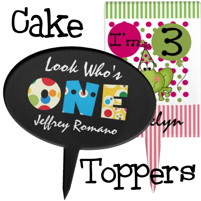 Cake Toppers & Plates