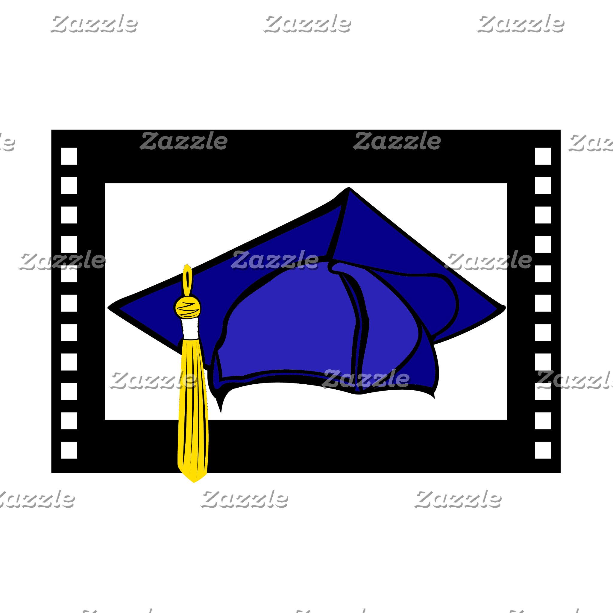 Blue Cap Gold Tassel