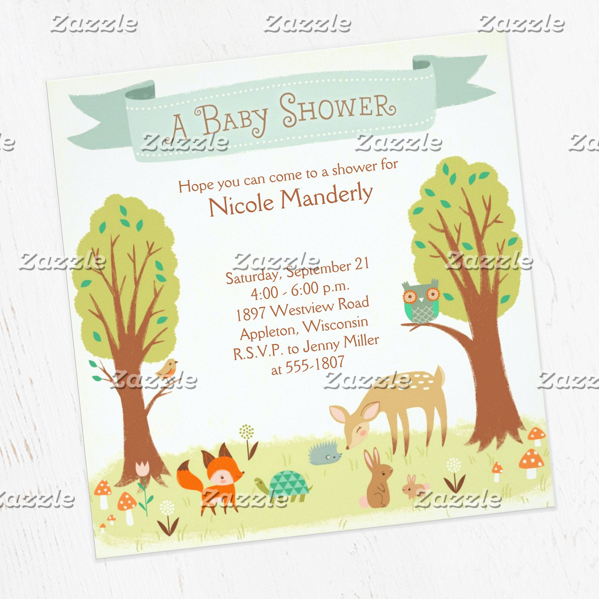 Whimsical Woodland Creatures Shower Suite