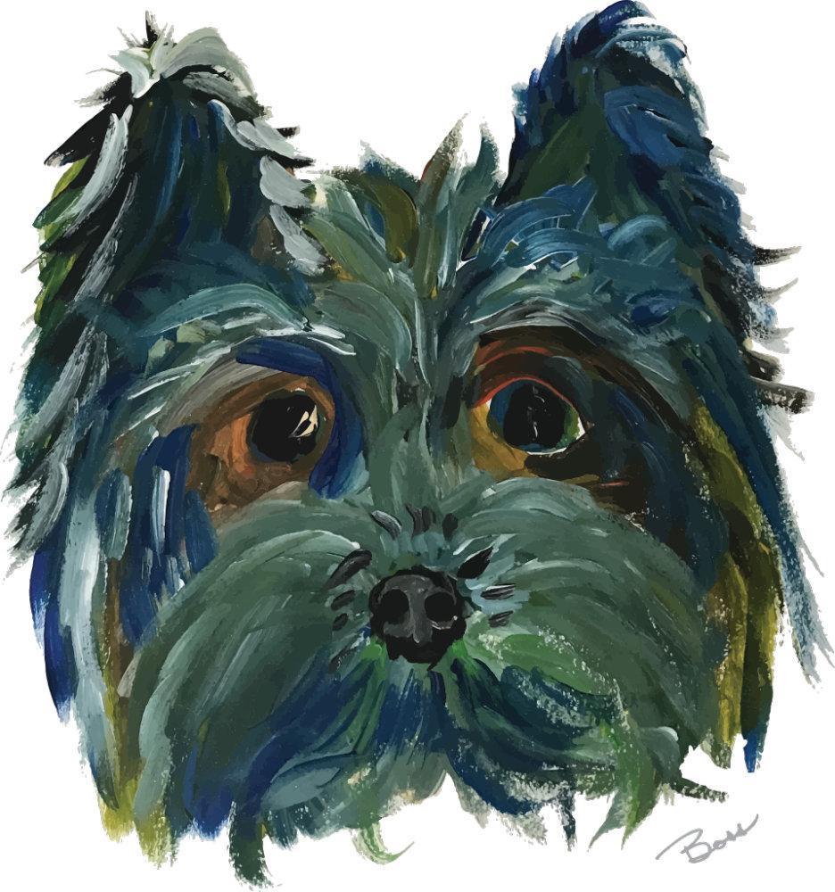 Yorkie Dog Art